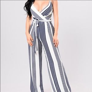 NWT Striped Jumpsuit